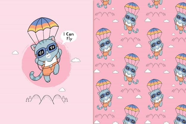 Ik kan patroon vliegen