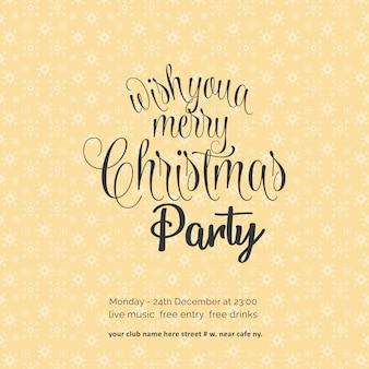 Ik wens je een merry chrismas night party sneeuwvlok achtergrond