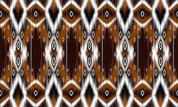 Ikat geometrische folklore ornament met diamanten. ontwerp voor achtergrond, tapijt, behang, kleding, verpakking, batik, stof, vector illustration.embroidery stijl.