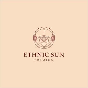 Illustratie abstracte etnische zon kunst decoratief grafisch abstract ontwerp