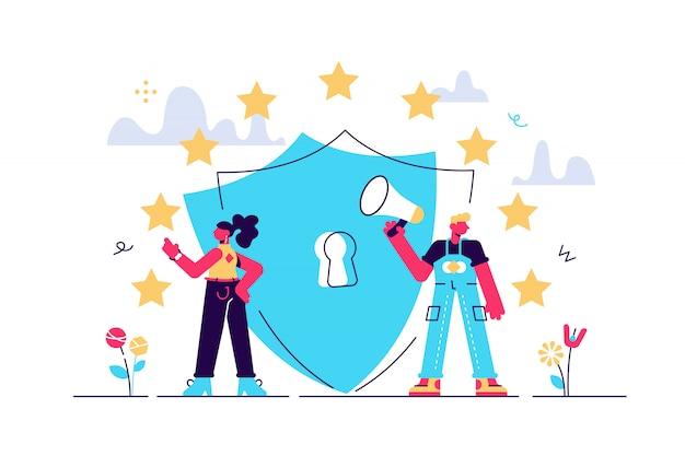 Illustratie. algemene regels voor gegevensbescherming gdpr.