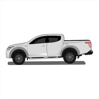 Illustratie auto, dubbele cabine 4x4