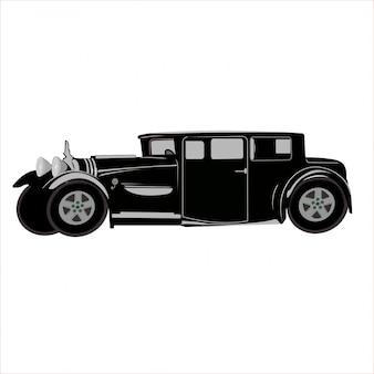 Illustratie auto klassieke retro vintage