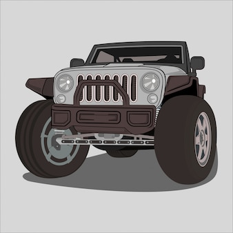 Illustratie avontuur off-road auto
