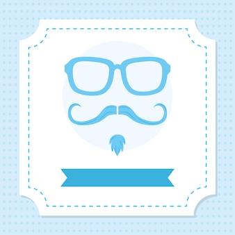 Illustratie bril en snor