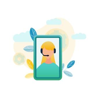 Illustratie callcenter klantenservice