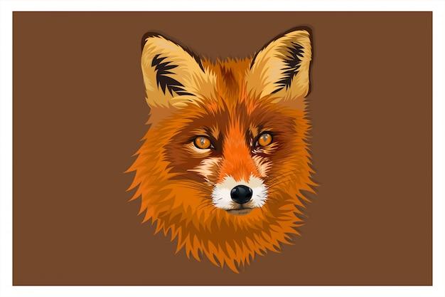Illustratie cartoon hoofd vos hand tekenen