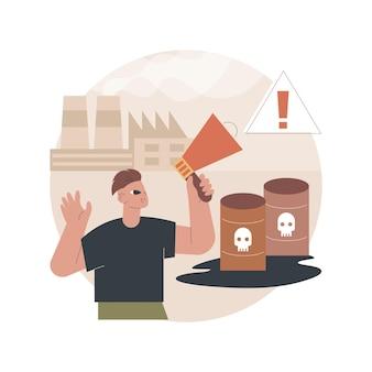Illustratie chemische vervuiling