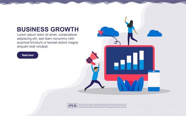 Illustratie concept bedrijfsgroei.