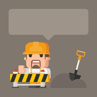 Illustratie, concept bouwwerkzaamheden, formaat eps 10