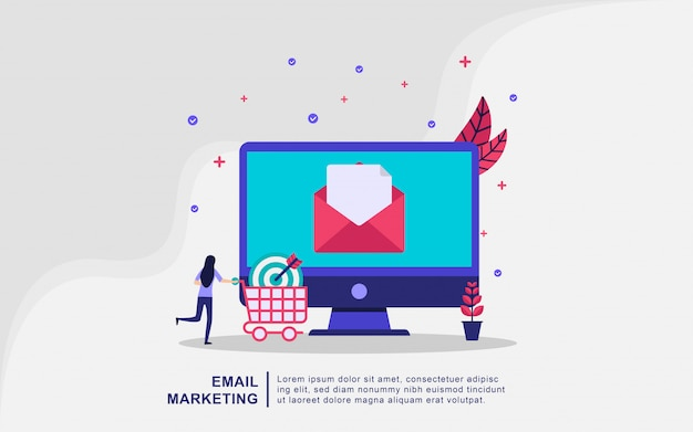 Illustratie concept van e-mailmarketing