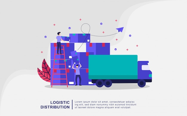 Illustratie concept van logistieke distributie