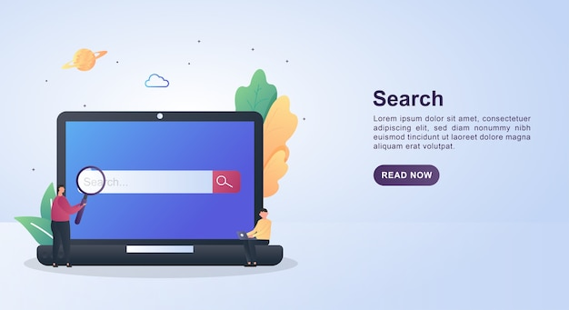 Illustratie concept van zoekmachineoptimalisatie.