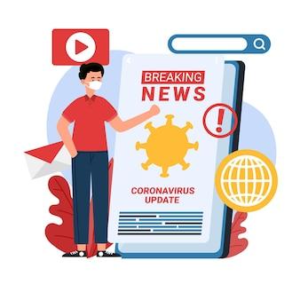 Illustratie coronavirus-update