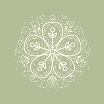 Illustratie ecologisch symbool.