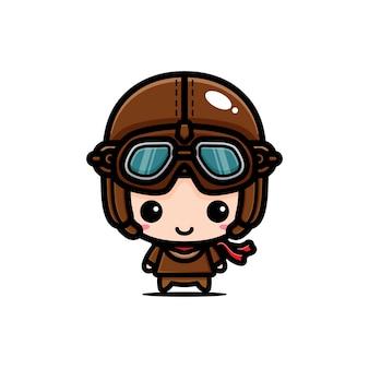 Illustratie een jongen piloot