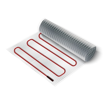 Illustratie elektrische vloerverwarming roll.
