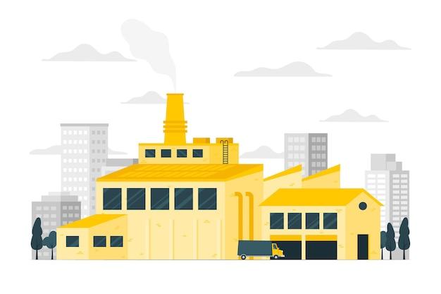 Illustratie fabrieksconcept