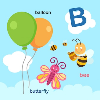 Illustratie geïsoleerde alfabet letter b.