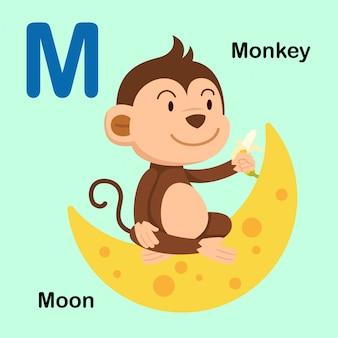 Illustratie geïsoleerde alfabet letter m
