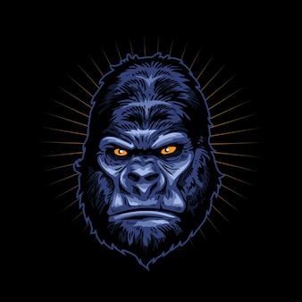 Illustratie gorilla gezicht