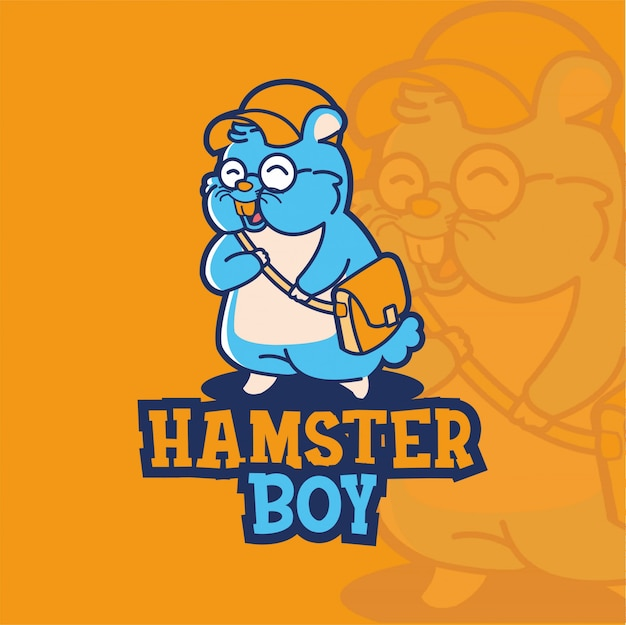Illustratie hamster boy