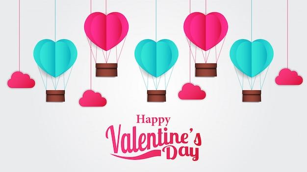 Illustratie hou van gelukkige valentijnsdag