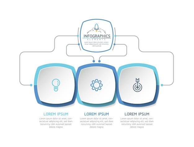 Illustratie infographics ontwerpsjabloon zakelijke informatie presentatie grafiek