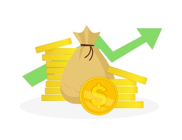 Illustratie investeringsgrafiek