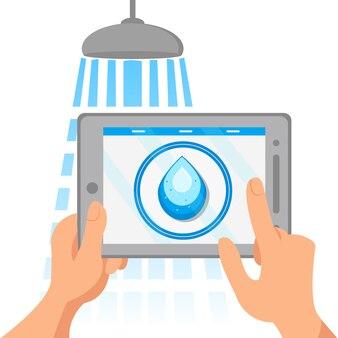 Illustratie irrigatiesysteem afstandsbediening