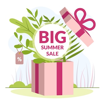 Illustratie is geschreven big summer sale
