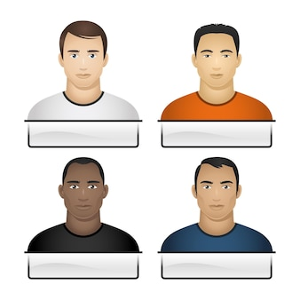 Illustratie, knopen menselijk ras mannen, formaat eps 10