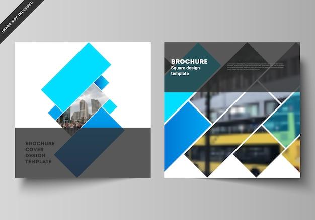 Illustratie lay-out van twee vierkant formaat omvat ontwerpsjablonen