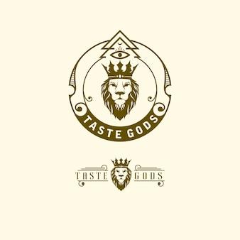 Illustratie-logo van koning leeuw