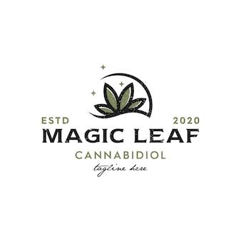 Illustratie logo van wietblad, geneeskunde logo