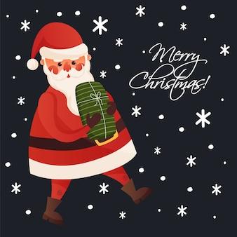Illustratie lopen kerstman kerst