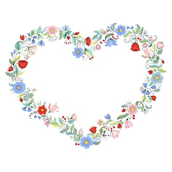 Illustratie met bloemhart.
