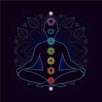 Illustratie met chakra's