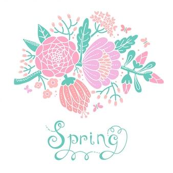 Illustratie met een bloeiende tak.