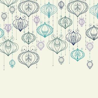 Illustratie met feestelijke lantaarns