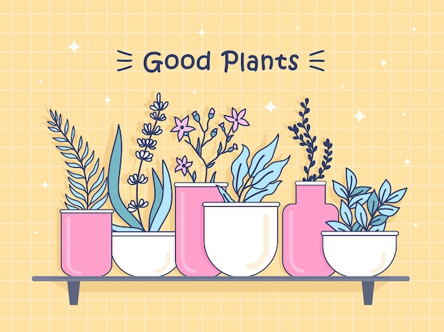 Illustratie met goede planten