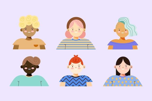 Illustratie met mensen avatars