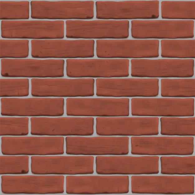 Illustratie met rode bakstenen muur voor site achtergrond, banner, textuur. naadloos fotorealistisch patroon.