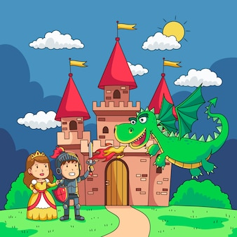 Illustratie met sprookjesachtige ontwerp