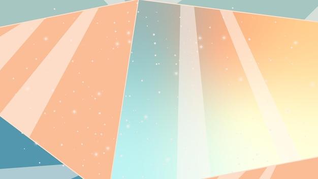 Illustratie met sterren en kristallen abstracte achtergrond met lijnen nachtelijke hemel kosmische abstractie