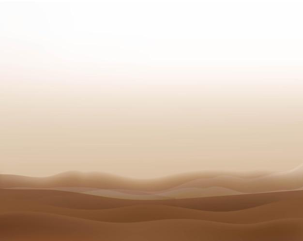 Illustratie met wolken en woestijn