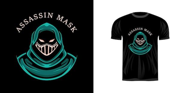 Illustratie moordenaar voor t-shirtontwerp