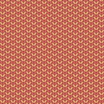 Illustratie naadloos gebreid patroon.