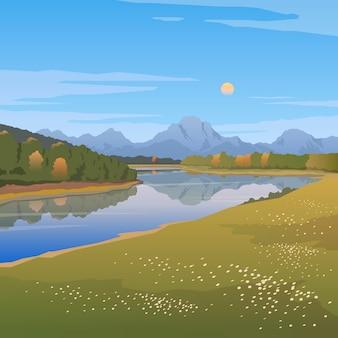 Illustratie op de thema's van wilde natuur van de verenigde staten