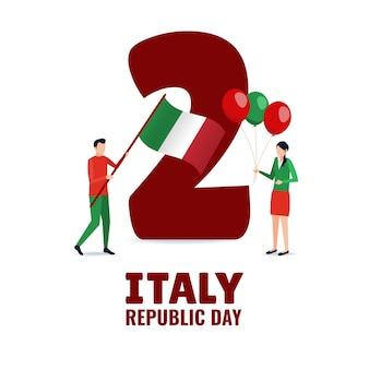Illustratie op het thema republiek dag italië
